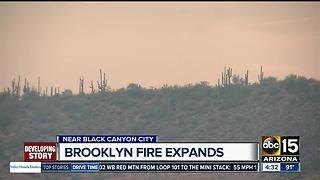 Brooklyn Complex Fire expands to nearly 36K acres - Video