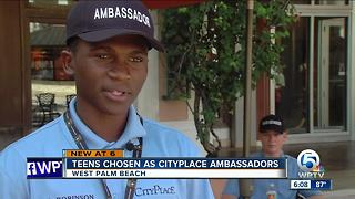 West Palm Beach teenagers selected to be CityPlace Ambassadors start work - Video