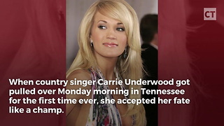 Carrie Underwood Got Pulled Over For First Time Ever - Video