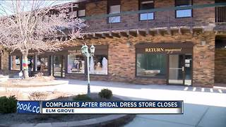 Many frustrated after bridal dress store abruptly closes - Video