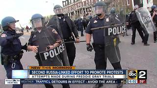 Second Russia-linked effort to create protests during Freddie Gray trial - Video
