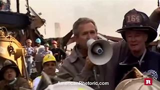 George W. Bush's unforgettable 9/11 bullhorn speech | Rare News - Video