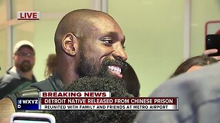 Detroit native released from Chinese prison