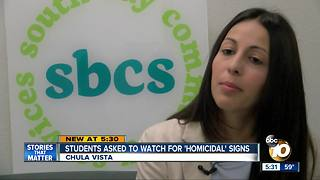 STUDENTS ASKED TO WATCH FOR SIGNS OF VIOLENCE - Video