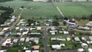 Aerial Footage Shows Ingham Covered by Floodwaters