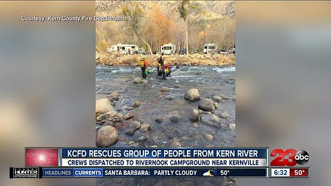 KCFD rescues group of people from Kern River