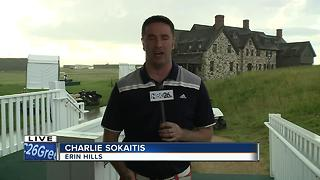 Erin Hills Clears Due To Storms - Video