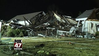 Tornado tears through Alabama town, destroying homes and trapping residents