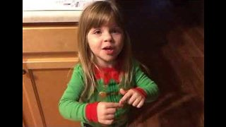 'It's Gross!': Little Girl Lectures Her Mom About Kissing Dad