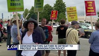 Demonstrators protest U.S. immigration policy - Video