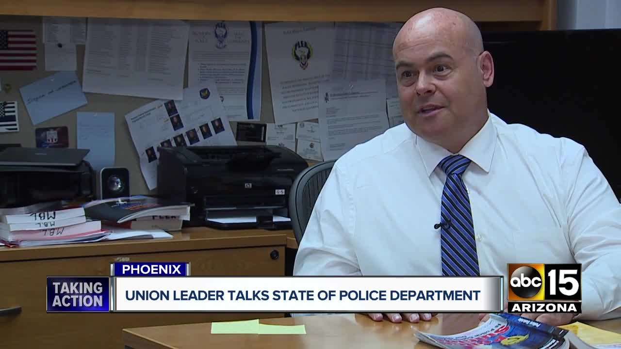 Phoenix police union President pushes back on politicians, calls for change