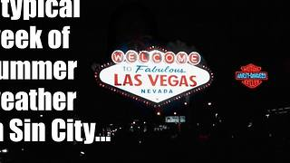 Las Vegas typical summer weather - Video