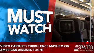 Video captures turbulence mayhem on American airlines flight - Video