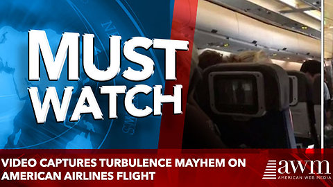 Video captures turbulence mayhem on American airlines flight