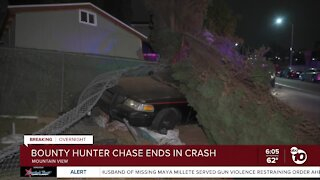 Bounty hunter chase ends in crash in Mountain View