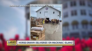 Horse-drawn deliveries on Mackinac Island