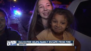 Girl hailed as hero for helping family escape fire