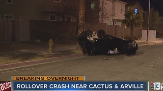 Rollover near Cactus and Arville Street - Video