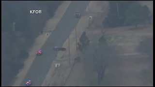 Dramatic ending to high-speed chase in Norman - Video