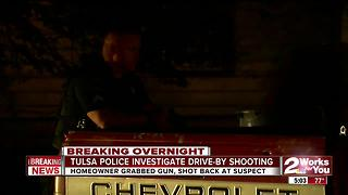 Tulsa Police investigate overnight drive-by shooting - Video