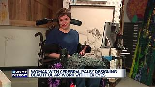 27-year-old artist with cerebral palsy defies odds to create stunning art - Video