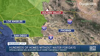 Hundreds of homes in Golden Valley without water for days