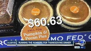 Running the numbers for Thanksgiving dinner - Video