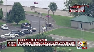 Sunken car containing unidentified remains pulled from Ohio River