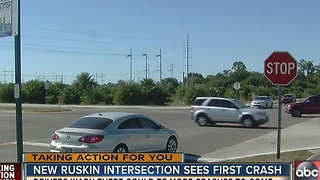 New intersection in Ruskin in Hillsborough County is an accident waiting to happen - Video