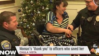 Woman thanks Chula Vista police officers who saved her