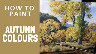 How to Paint AUTUMN COLOURS - Tips For Painting Trees and Leaves