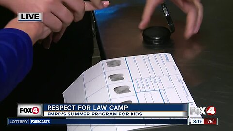 Fort Myers Police Dept. gets ready for Respect for Law Camp 8:00 a.m.