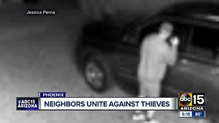 Neighbors uniting against thieves in Phoenix - Video