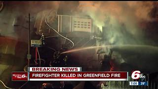 Greenfield firefighter dies after fighting massive fire at shopping plaza - Video