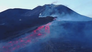 Drone Footage Gives Spectacular View of Etna Lava Flow - Video