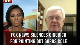 Newt Gingrich silenced on George Soros role in formenting violence. Forbidden / Verboten