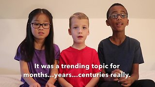 Kids answer which came first - viral posts or the internet