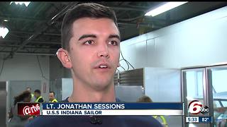 USS Indiana sailors give back to the community - Video