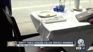 Empty restaurant table honors fallen service members in Delray Beach - Video