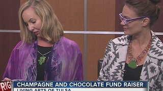Living Arts of Tulsa hosts Champagne and Chocolate Fundraiser - Video