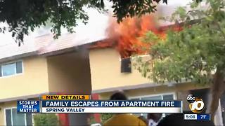 Family escapes apartment fire in Spring Valley