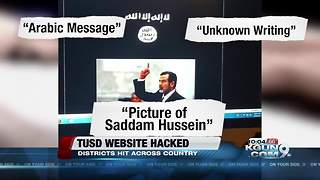 TUSD website one of hundreds hacked over weekend - Video