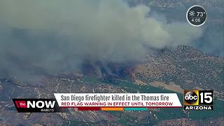 Firefighter dies fighting Thomas Fire in Southern Calif. - Video