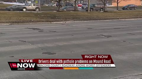 Drivers dealing with pothole problem on Mound Road