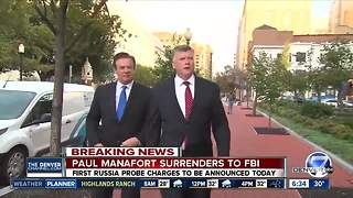 Former Trump campaign chairman Paul Manafort turns himself in - Video