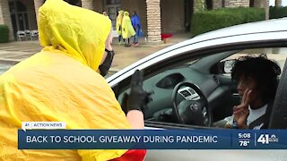 Back-to-school giveaway during pandemic