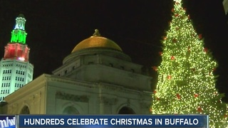 Hundreds celebrate Christmas in Buffalo - Video