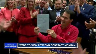 WEDC to view Foxconn contract Monday - Video