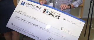 Project 150 presented with donation