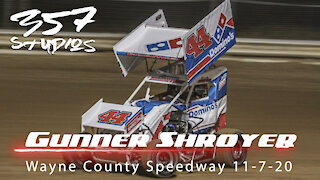 On car with Gunner Shroyer at Wayne County Speedway from 11720